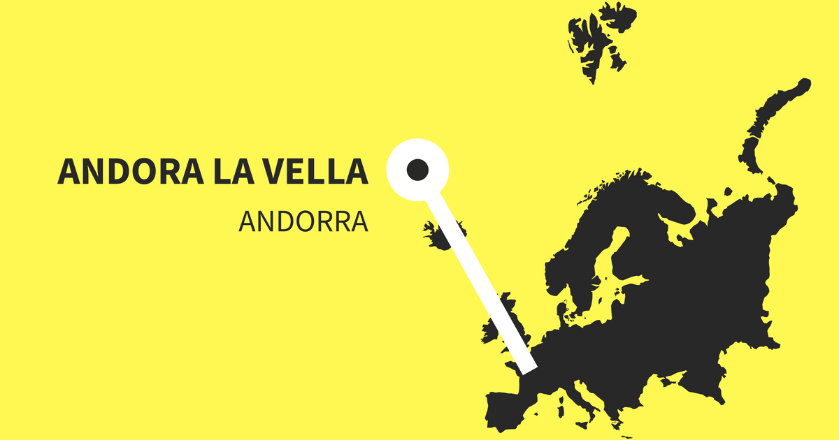 Must visit and important Instagram hashtags for Andorra La Vella in Andorra