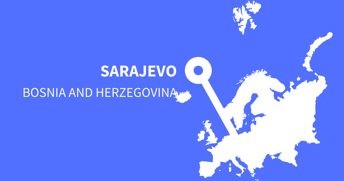 Must visit and important Instagram hashtags for Sarajevo in Bosnia and Herzegovina
