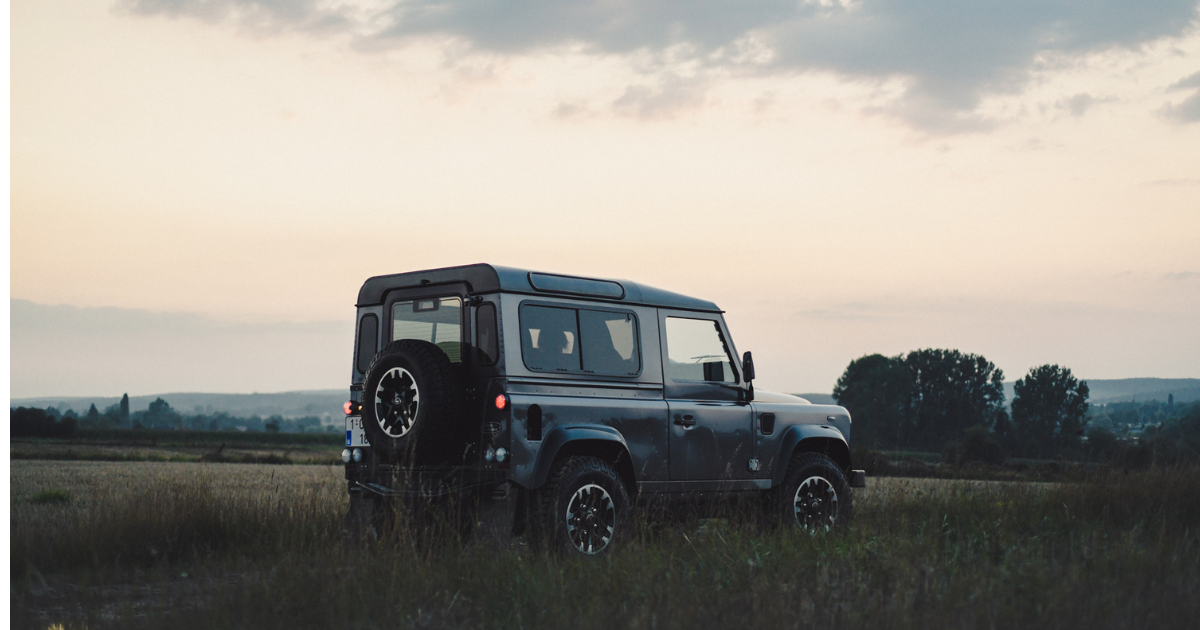 Close adventures with a land rover defender